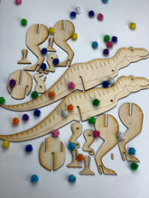 Load image into Gallery viewer, Dinosaur Busy Bag, 3D DIY Wood paint kits
