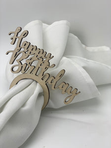 'Happy Birthday' Napkin Rings, Set of 12