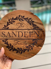 Load image into Gallery viewer, Round Wood Trivet (Personalize This!)