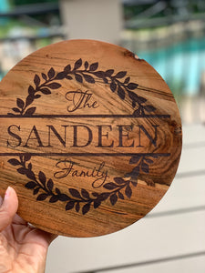Round Wood Trivet (Personalize This!)