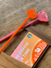 Load image into Gallery viewer, PSL themed gift card holder + drink stirrer combo