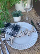 Load image into Gallery viewer, **PRE-ORDER** 'Grateful' Place Settings, Set of 4 (SHIPS 11/2)