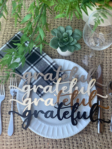 **PRE-ORDER** 'Grateful' Place Settings, Set of 4 (SHIPS 11/2)