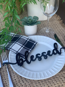 **PRE-ORDER** 'Blessed' Place Settings, Set of 4 (Ships 11/2)