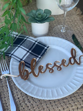 Load image into Gallery viewer, **PRE-ORDER** 'Blessed' Place Settings, Set of 4 (Ships 11/2)