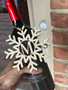 Snowflake Monogram Ornament (Personalize This!)