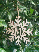 Load image into Gallery viewer, Snowflake Monogram Ornament (Personalize This!)