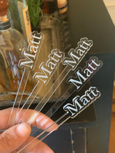 Load image into Gallery viewer, Personalized Engraved Drink Stirrer, Set of 15 (Personalize This!)