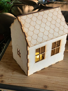 3D Gingerbread House Busy Box