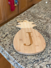 Load image into Gallery viewer, Pineapple Shaped Cutting & Serving Board (Personalize This!)