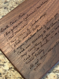 "9"" Walnut Cutting Board (Personalize This!)"
