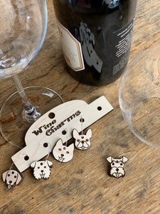 Dog Lover Wine Charms, Set of 5