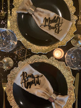 Load image into Gallery viewer, bon appetit black acrylic place cards