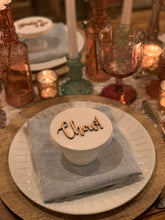 Load image into Gallery viewer, chow natural wood place card