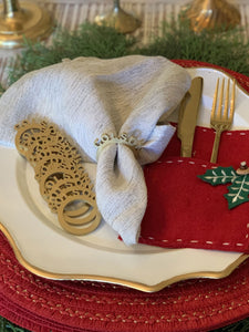 holiday table custom napkin rings