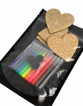 Load image into Gallery viewer, Heart Busy Bag, DIY Magnet Set of 4