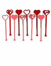 Load image into Gallery viewer, Heart Variety Drink Stirrers, Set of 5