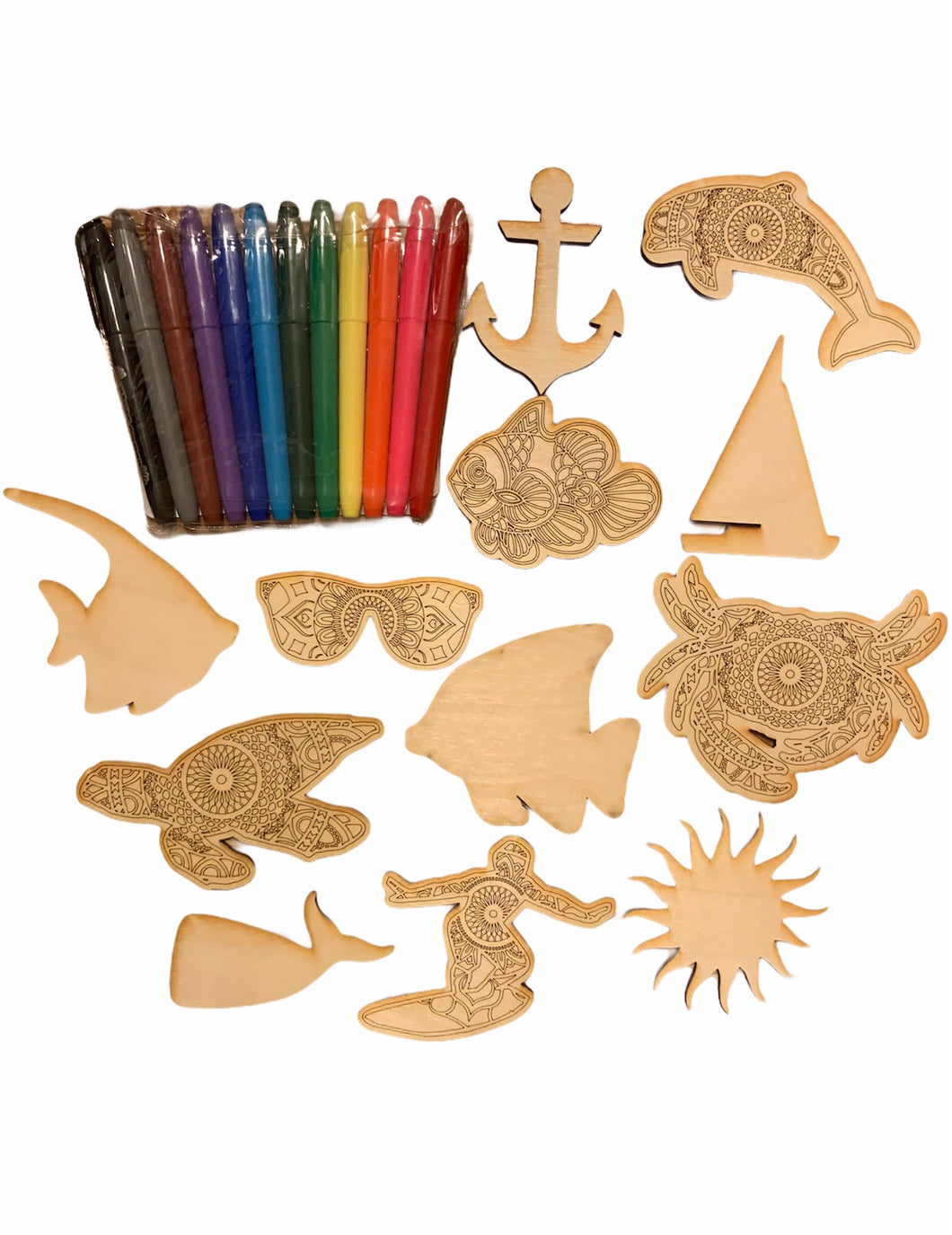 Beach Themed Busy Box Bundle, DIY Craft Kit