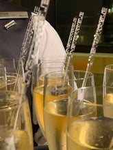 Load image into Gallery viewer, clear acrylic champagne drink stirrers