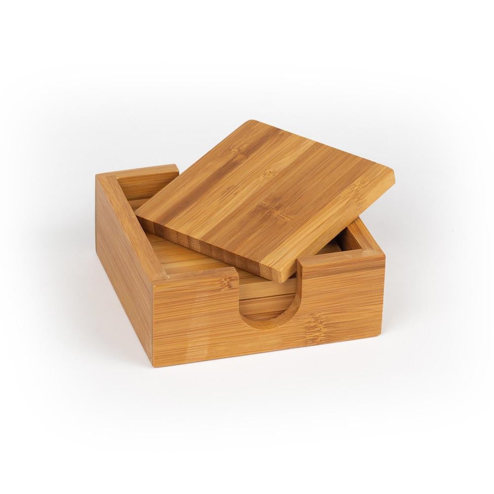 Square Bamboo Coaster Set of 4 (Personalize This!)