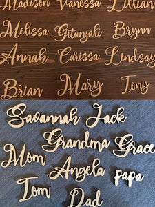 custom name personalized place cards