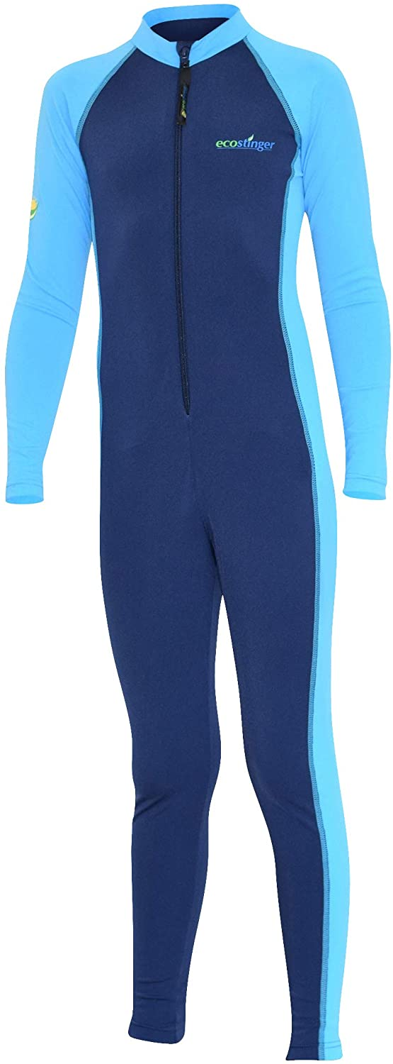 EcoStinger Boys Full Body Swimsuit Stinger Suit Long Sleeves UV Protection UPF50+ Navy Blue (Chlorine Resistant)