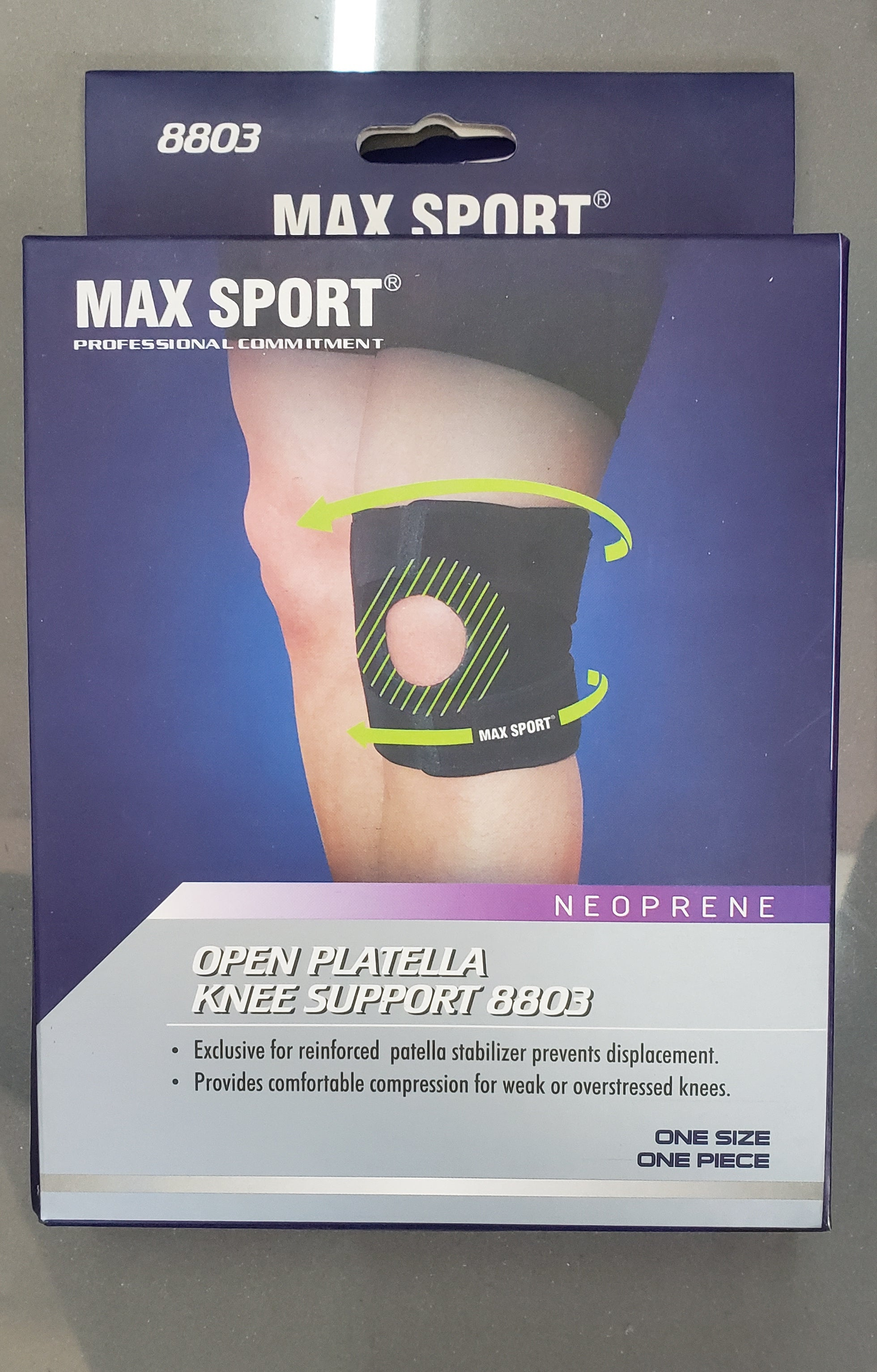 MAX SPORT Open Platella Knee Support (One Size,One Piece) 8803