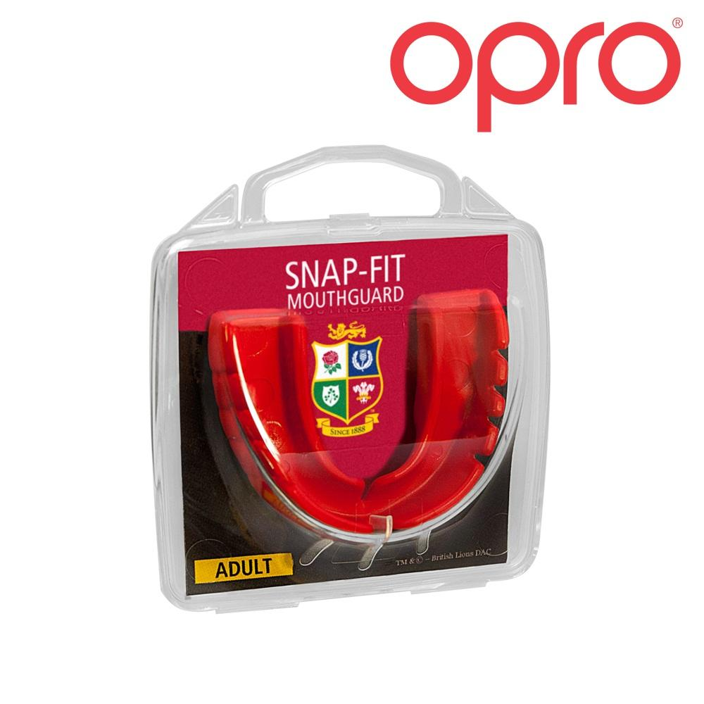 Opro Snap-Fit British & Irish Lions MouthGuard (Age 10 to Adult)