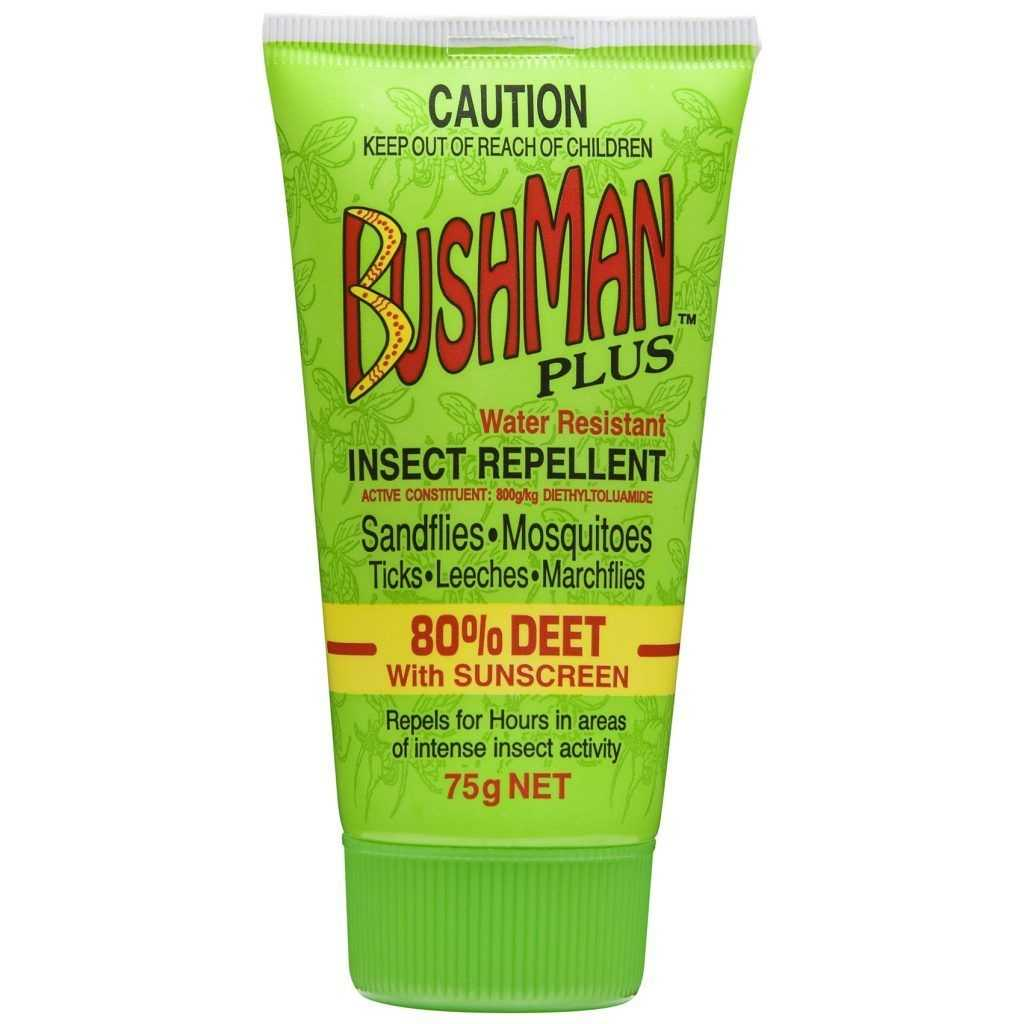 Bushman Plus Gel 75gm 80% Deet With Sunscreen Bushman