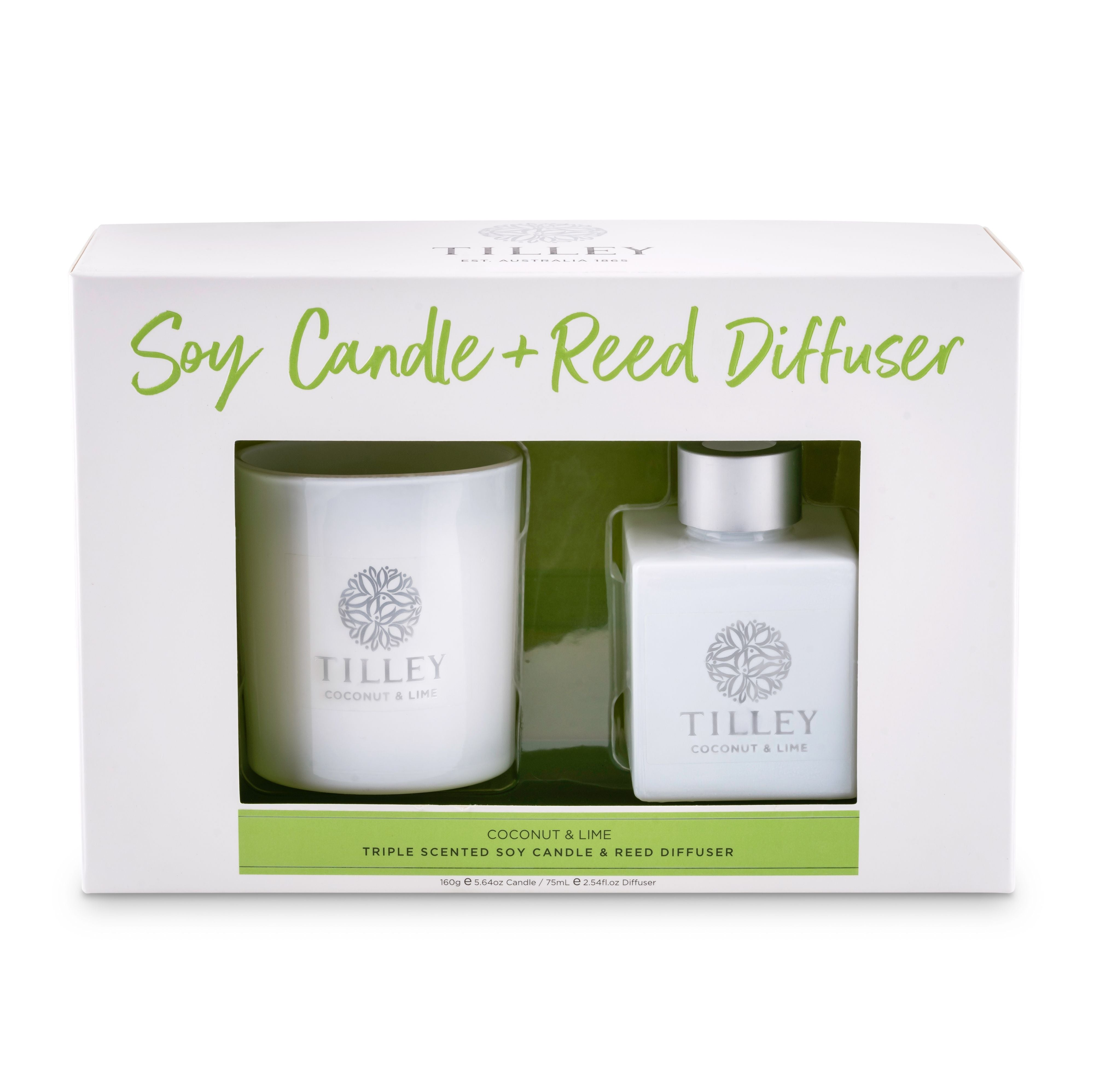 Tilley Candle & Reed Diffuser Gift Pack (160g Candle & 75mL Reed Diffuser)