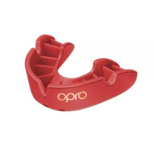 Opro Bronze Mouthguards Opro Red Junior