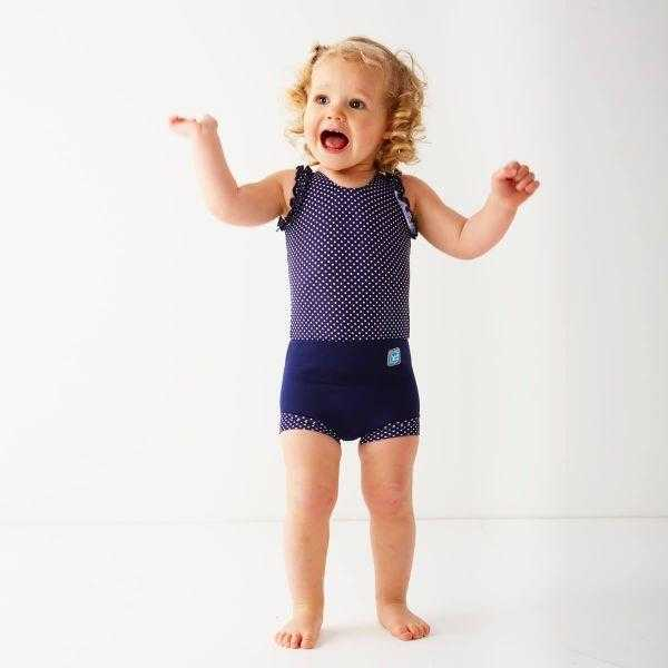 Splash About Happy Nappy Costume Splash About Navy Dots 0-4 Months