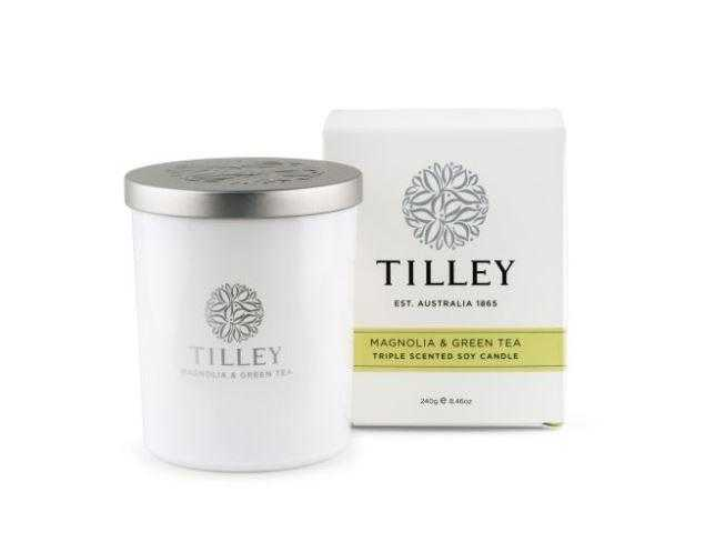 Tilley Candles 240g / 45 Hour Tilley Magnolia & Green Tea