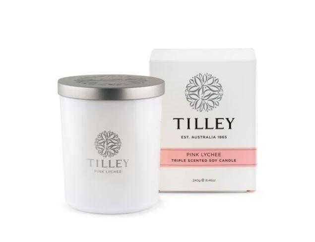 Tilley Candles 240g / 45 Hour Tilley Pink Lychee
