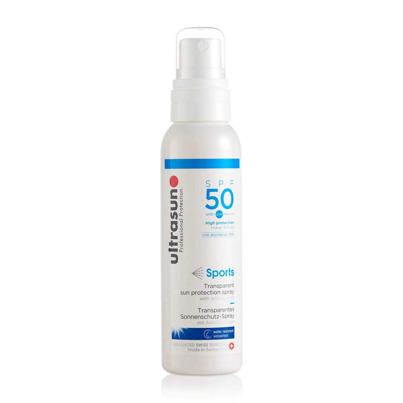 Ultrasun Sports High SPF50 Clear Spray Formula 150ml Ultrasun