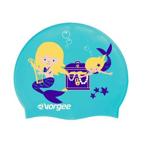 Vorgee Junior Character Swim Cap Vorgee Mermaid