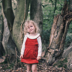 Brick Red Corduroy Dress