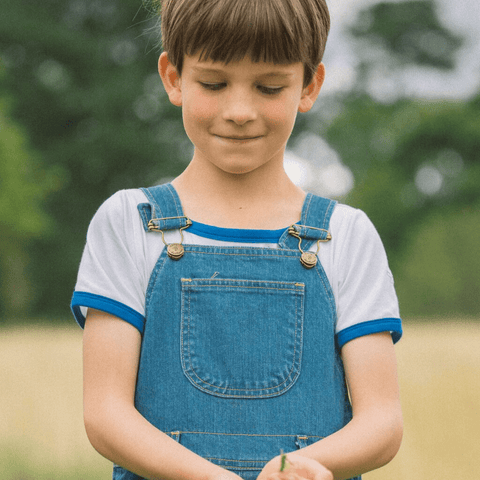 dotty-dungarees-ltd, The Jack Tee - Blue