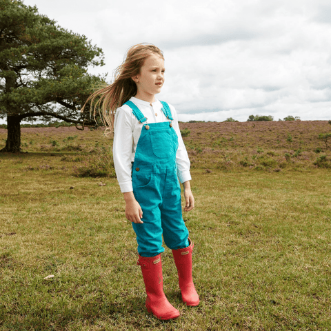 Teal Cord Dungarees