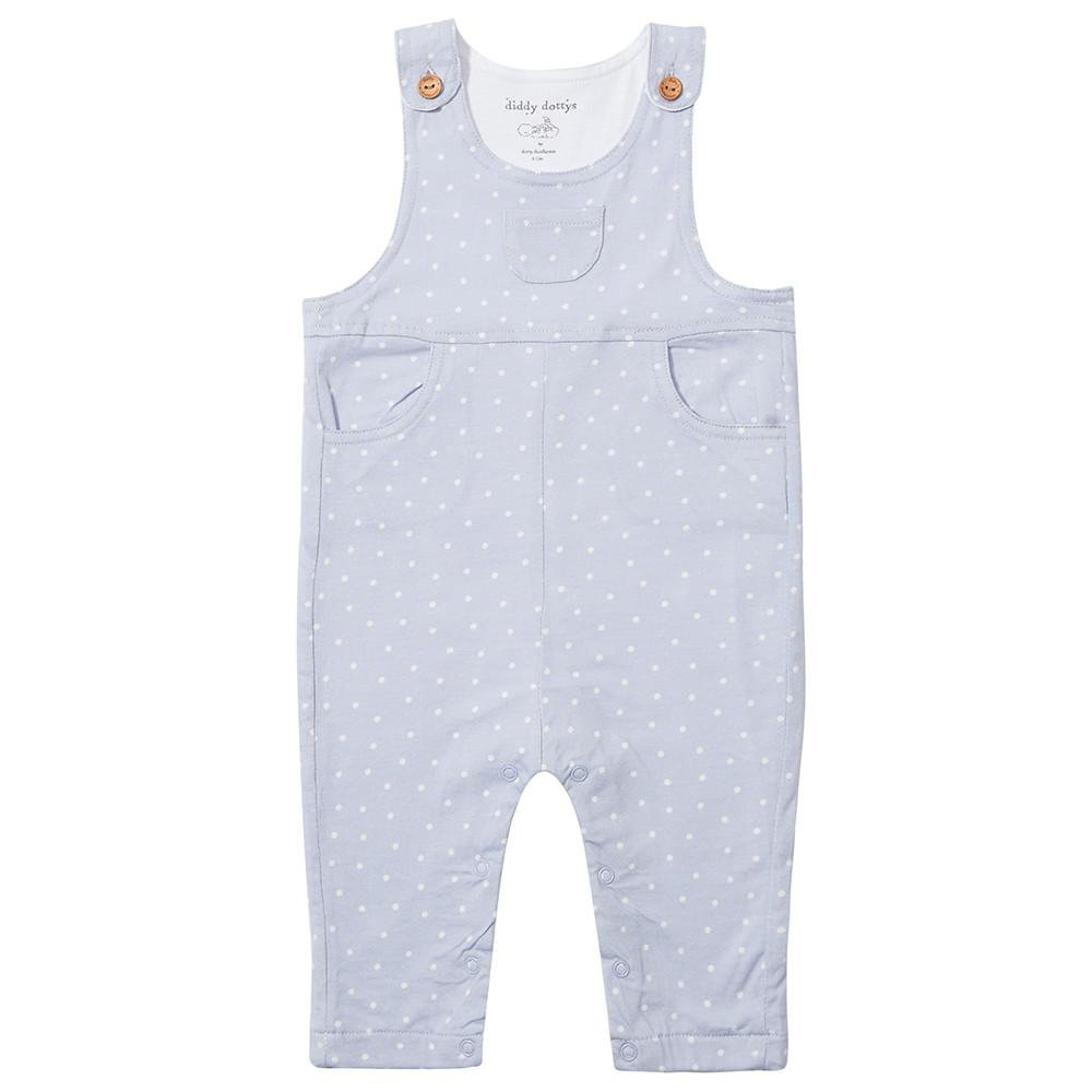 Blue Dotty Dungarees