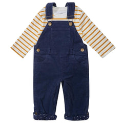 Navy Corduroy Dungarees