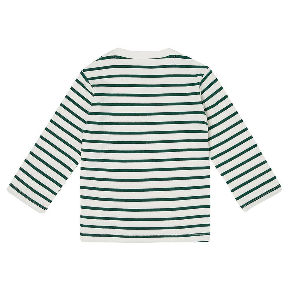 Green Breton Stripe Top