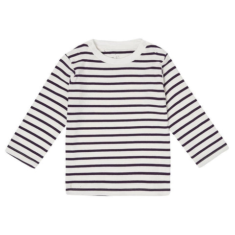 dotty-dungarees-ltd, Purple Breton Stripe Top