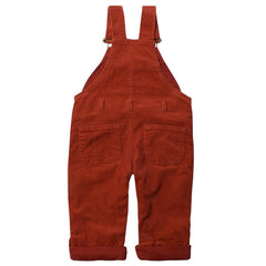 Brick Red Cord Dungarees