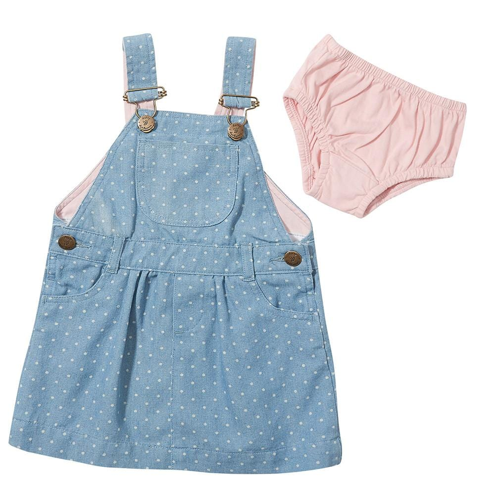 Dotty Denim Dress