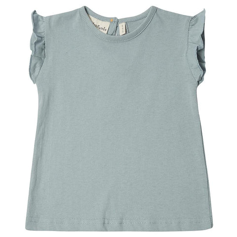 dotty-dungarees-ltd, Edie Frill Top - Powder Blue