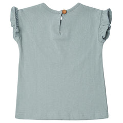Edie Frill Top - Powder Blue