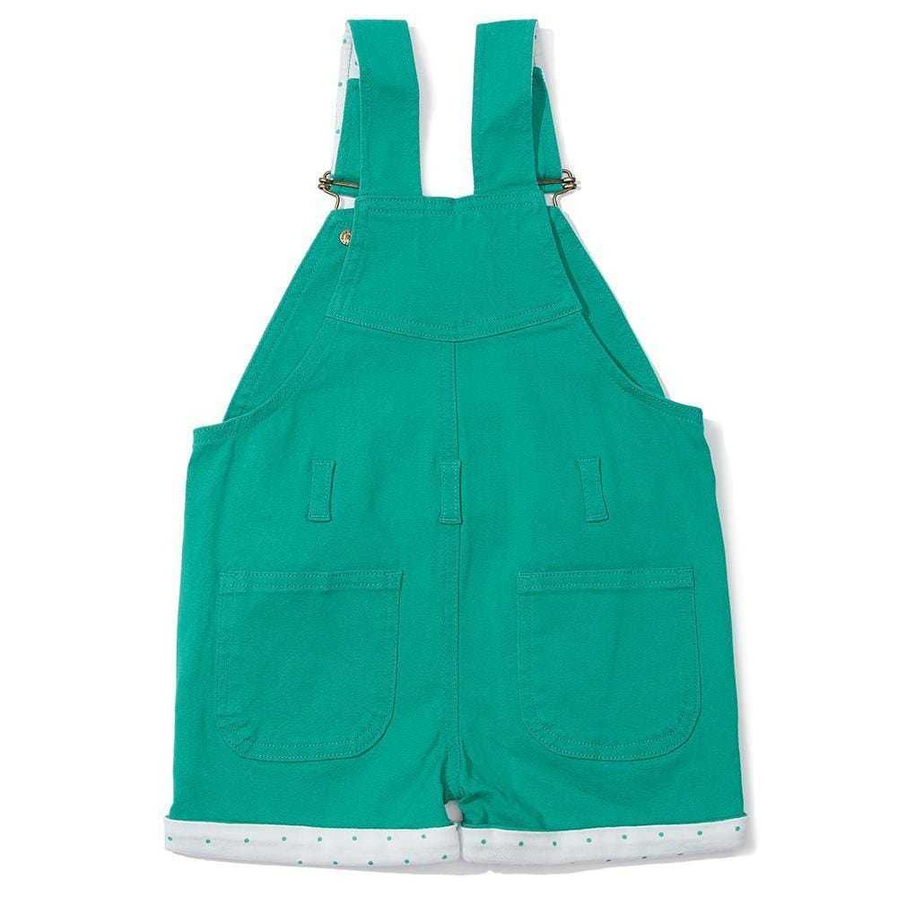 Emerald Green Denim Girls Shorts