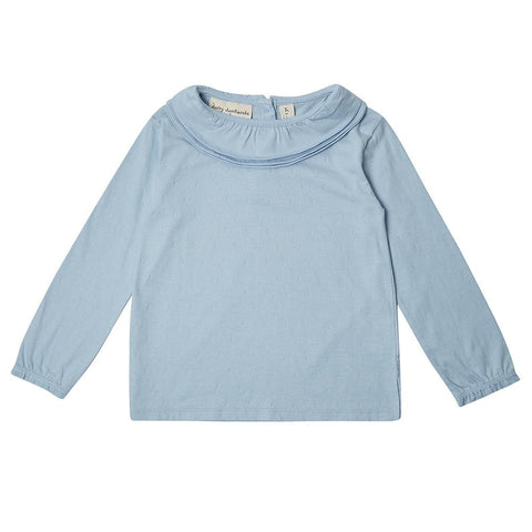 Margaux Ruffle Neck - Powder