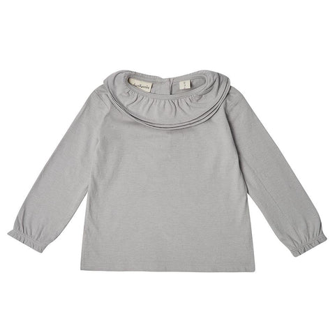 Margaux Ruffle Neck - Dove